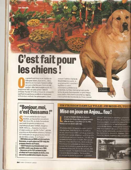 francois bonifaix traumatisme du prenom dans FHM février 2002